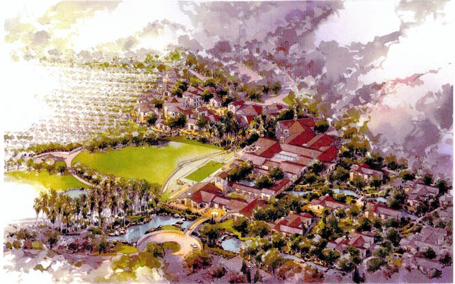 An artist's rendering of a proposed resort in Soledad.