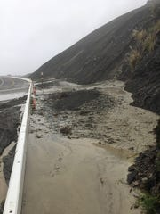 A mudslide occurred on Highway 1 near Mud Creek during a round of storms this week.