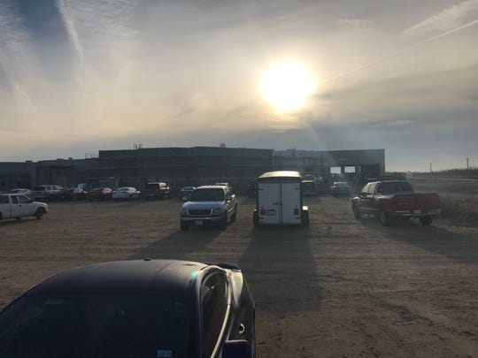 The winter sun rises over the job site at the new Tom Green County Jail Friday, Jan. 18, currently under construction in North San Angelo. The jail is scheduled to open Dec. 5, 2019.