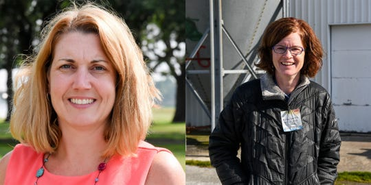 Two women have taken the lead at Delmarva Poultry Industry, Holly Porter (left) as Executive director and Jennifer Timmons as Board President.