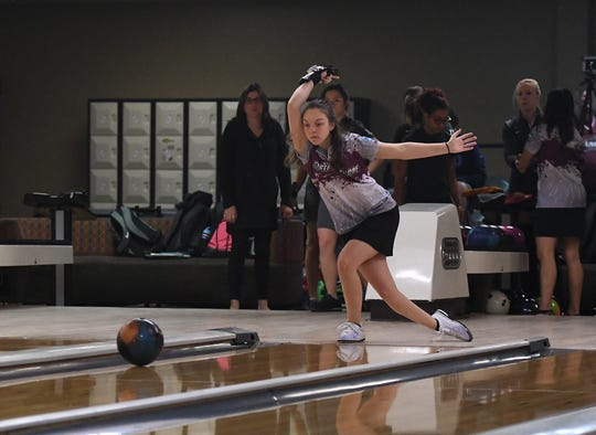 UMES bowler Cayla Hicks bowls for the Hawks.