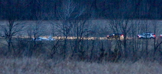 Police respond to a single passenger plane that made an emergency hard landing in Sheboygan County on Jan. 18.