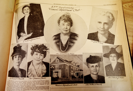 Woman's Department Club newspaper clippings in their scrapbook which is now the LSUS Archives and Special Collections, Noel Memorial Library.