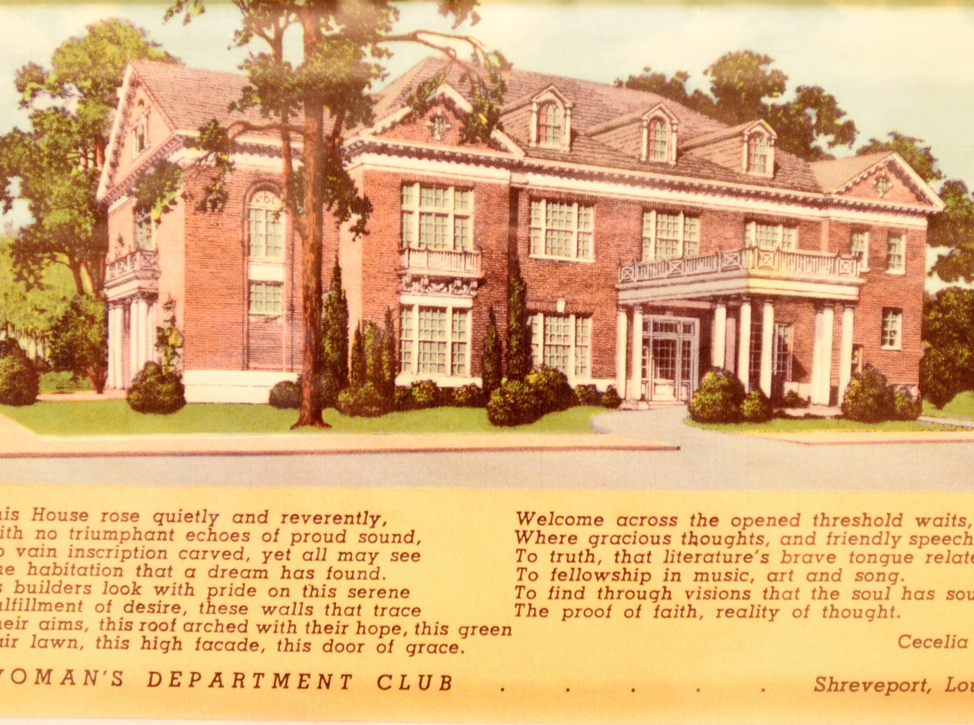 Shreveport's Woman's Department Club is celebrating 100 years in 2019.