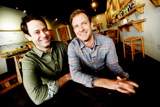 John-Paul Young, right, and Brandon Fail are the owners of The Levee restaurant on East Kings Highway in Shreveport.