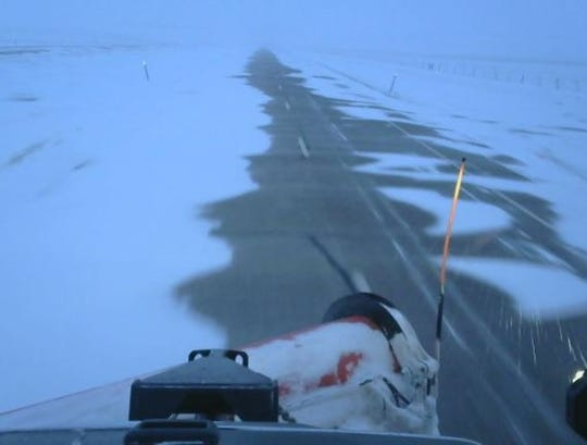 The South Dakota Department of Transportation tweeted this picture of road conditions Thursday morning.