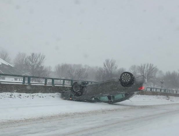 A crash on 49th Street near Sertoma Park.