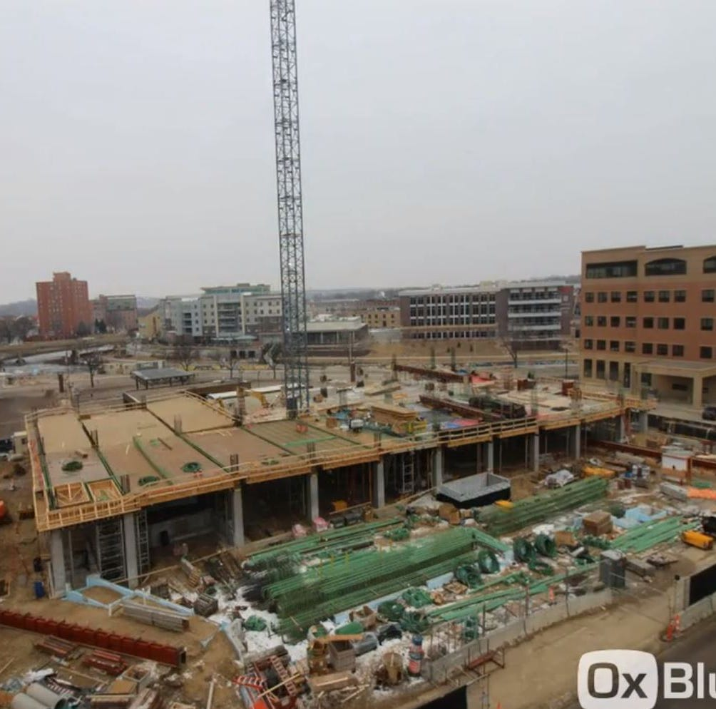 Video: See how much Village on the River parking ramp construction has progressed