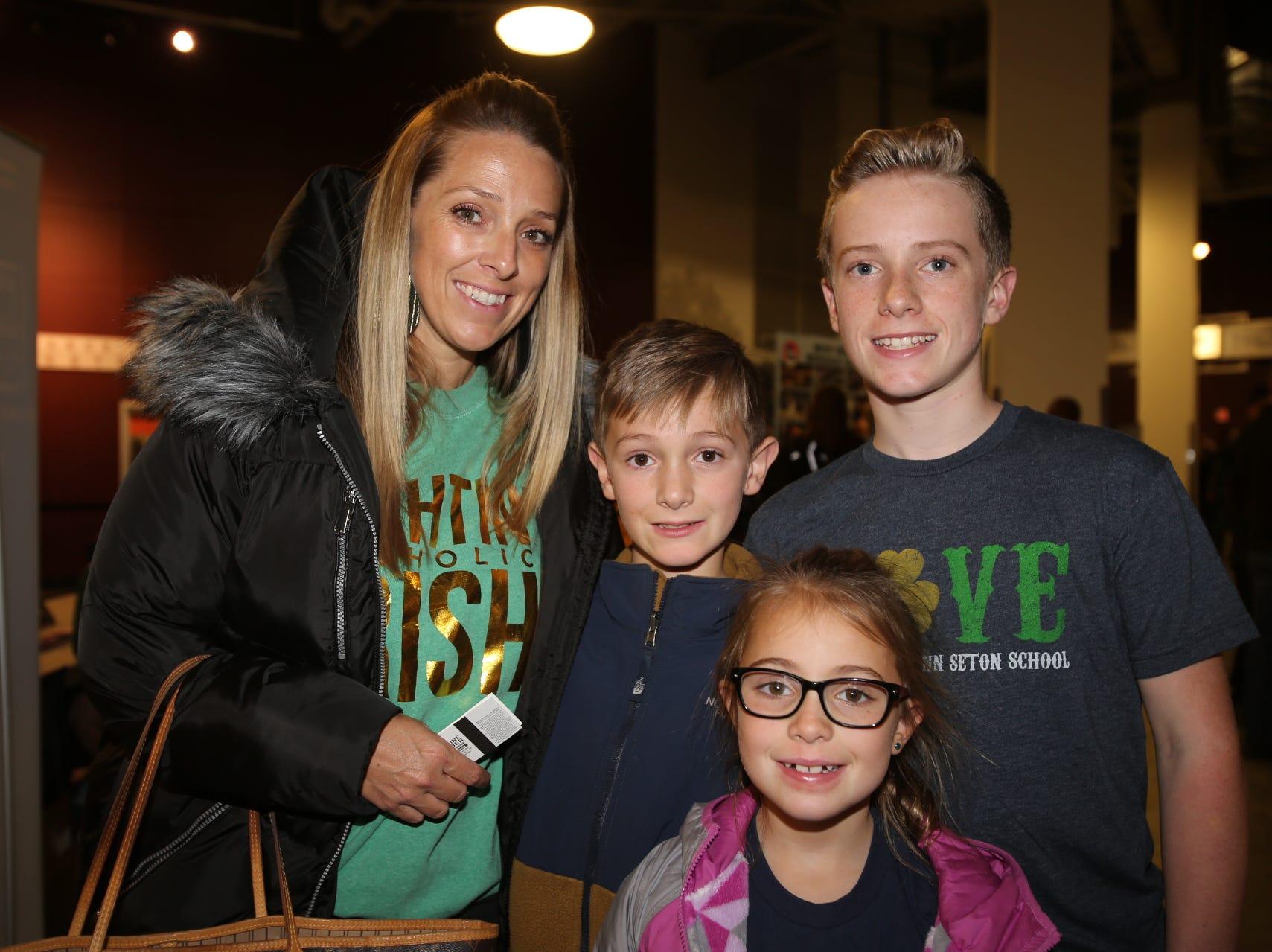 Lori, Lincoln, Nora, and Aidan Rook