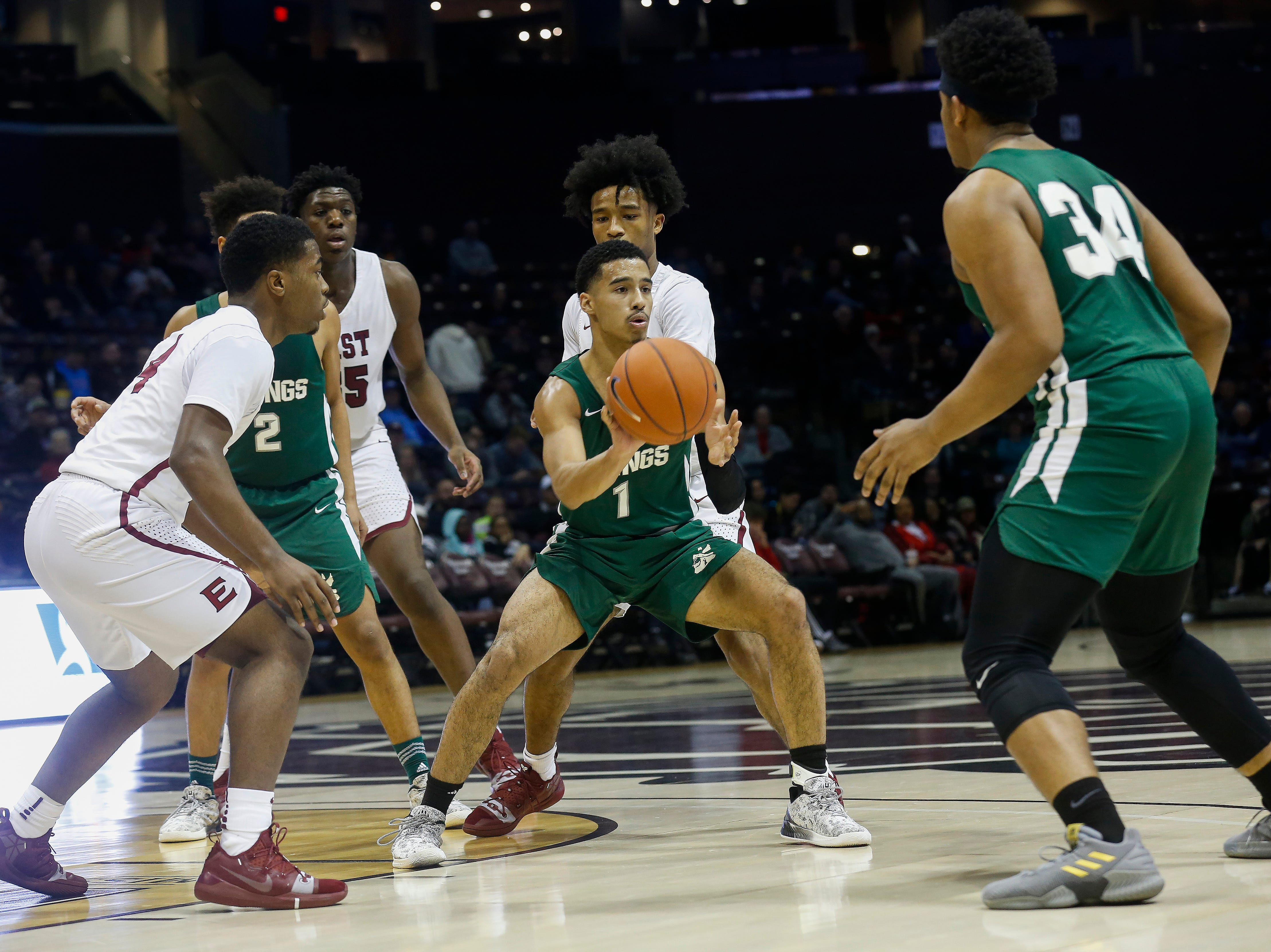 The Parkview Vikings fell to the Memphis East Mustangs 55-41 in the opening game of the Bass Pro Shops Tournament of Champions at JQH Arena on Thursday, Jan. 17, 2019.