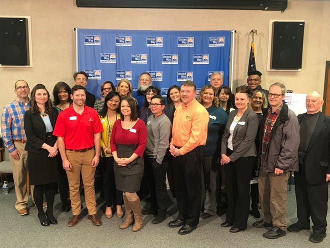 Pictured are representatives from United Way of the Ozarks, Great Game of Business and Give 5, as well as the local nonprofits Ozark Regional YMCA, CASA of Southwest Missouri, Council of Churches, and the Discovery Center at a press conference Thursday announcing a new pilot program designed to give nonprofit agencies the opportunity to enhance financial sustainability.