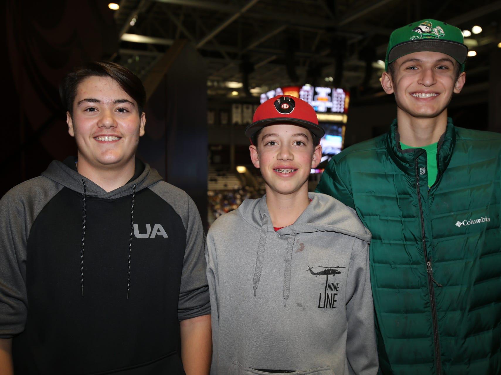 Cole Dobbs, Brady Buckman, and Gus Dauer