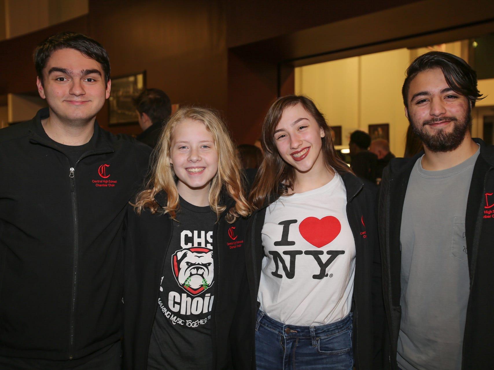 Jaden Rodriguez, Savannah Garrison, Nyah Karsten, and Adam Villarreal