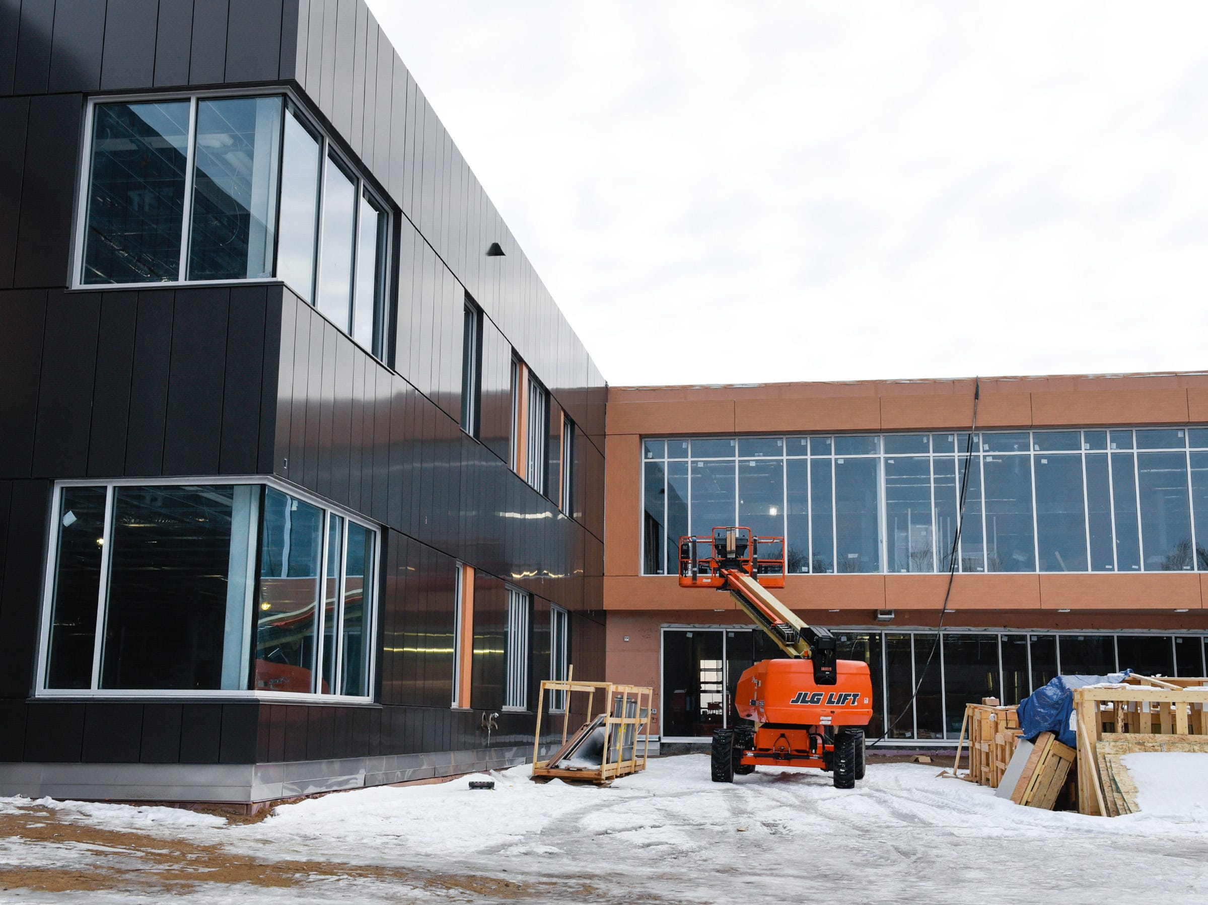 Three learning neighborhoods are under construction Thursday, Jan. 17, at the new Tech High School.