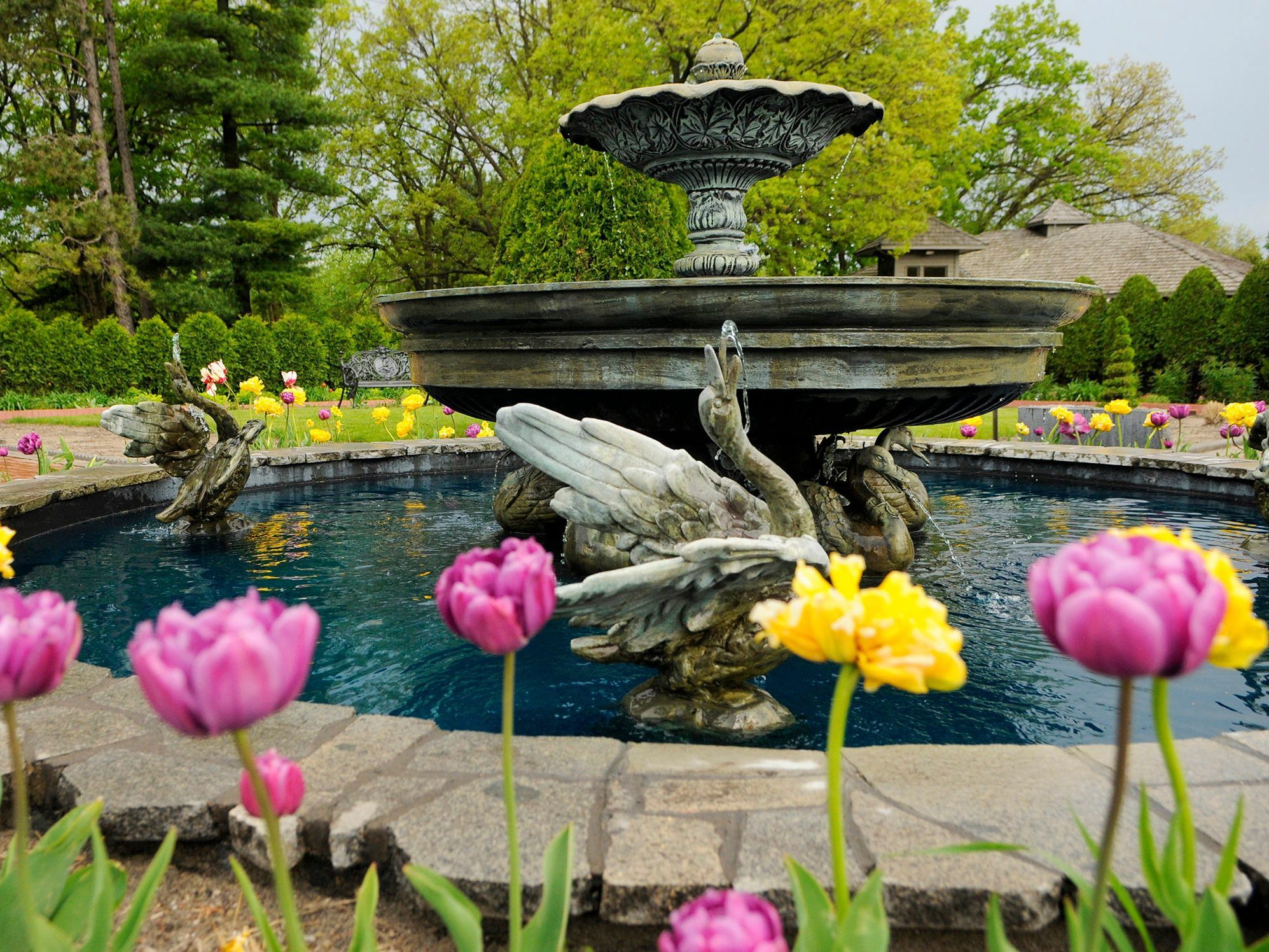 The Windsor Court Fountain is pictured in this file photo taken before the fountain was damaged sometime in January 2019. Thieves stole two cast-iron ducks and two cast-iron geese from the fountain, police said.