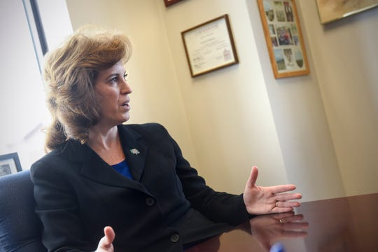 Stearns County Attorney Janelle Kendall talks about results so far from the Central Minnesota Human Trafficking Task Force during an interview Thursday, Jan. 17,  in St. Cloud.