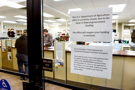 The USDA Service Center Office, shown Friday, Jan. 18, will open for three days this week and next to help relieve some of the pressure on farmers accessing their government-backed funds. The office is located at 110 2nd St S #125 in Waite Park.