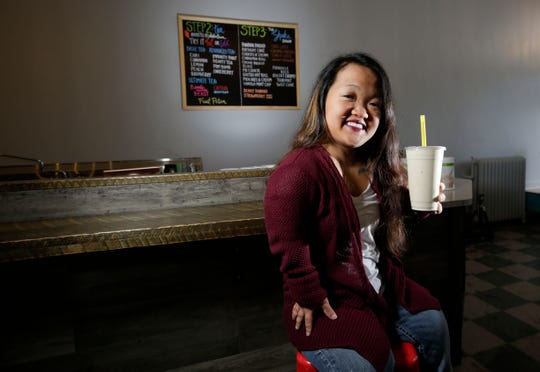 Nicole Bird owns Mission Nutrition, which will offer a variety of meal replacement shakes and teas, in Marshfield, Wis. The shop opens on Monday, Jan. 21, 2019.