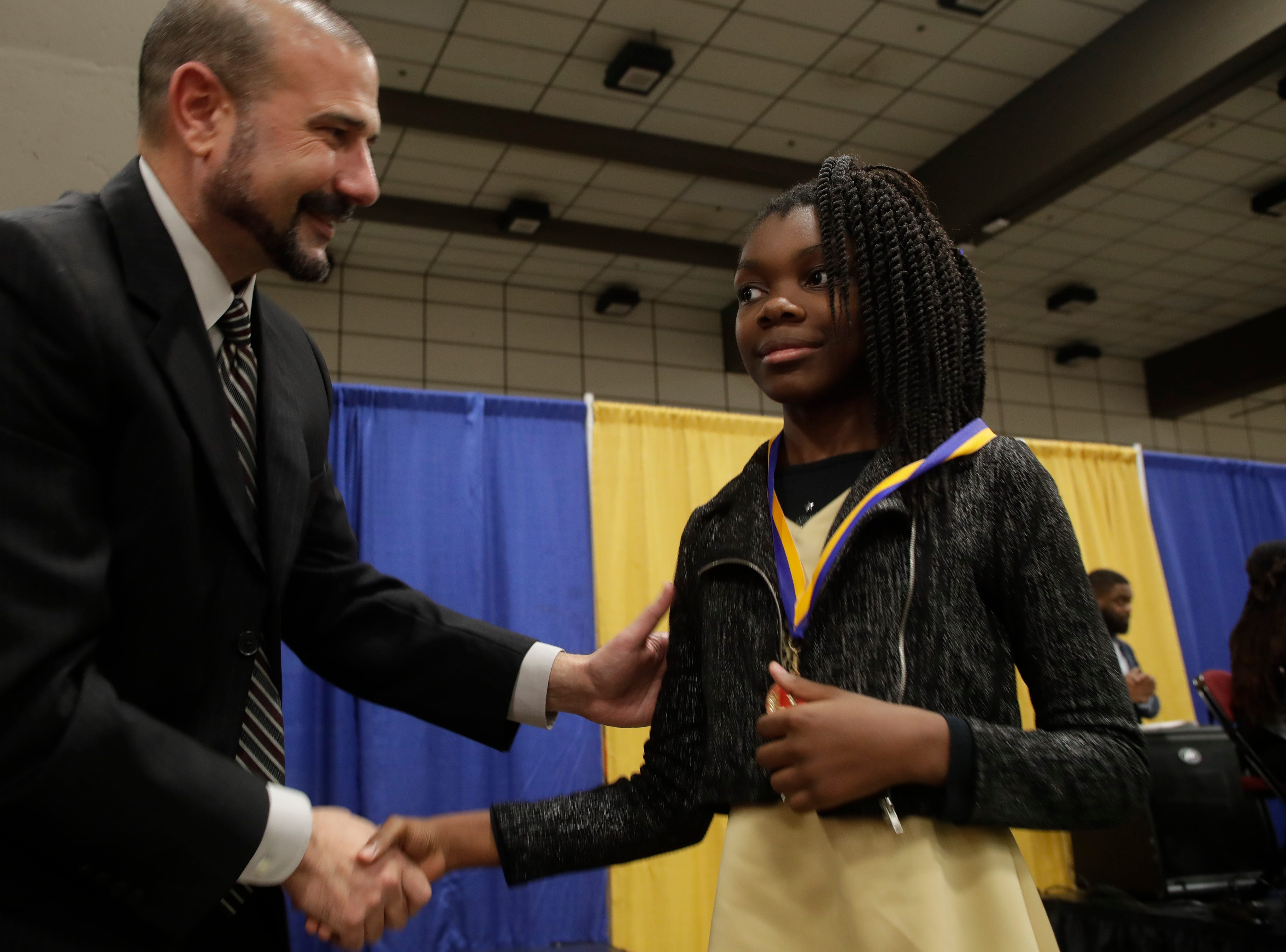 "Leon County School students were given medals in recognition for being ""Dreamers and Doers"" at the Martin Luther King Jr. commemorative breakfast at Donald L. Tucker Civic Center Friday, Jan. 18, 2019."