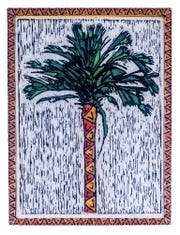 """""""Whispering Palm"""" is the cover art by John Davis for the 2019 Chain of Parks Art Festival."""