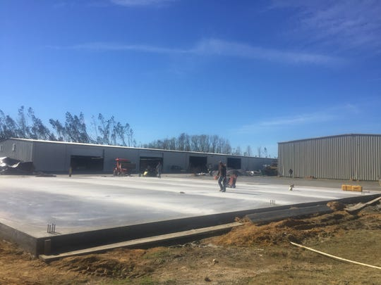 A new foundation was recently put in after Hurricane Michael destroyed E.F. San Juan's main production facility in Youngstown.