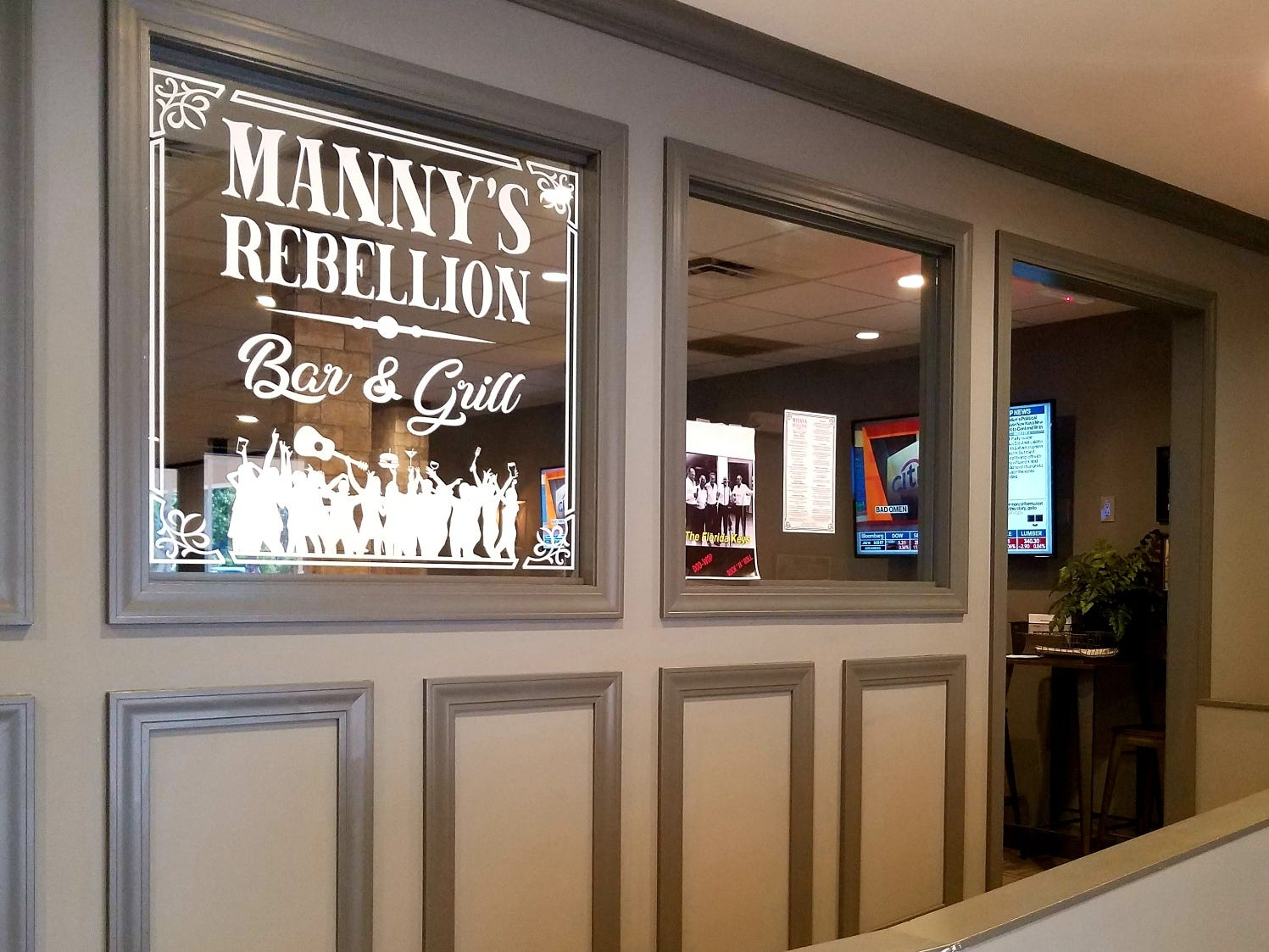 Enter here to discover the trendy Manny's Rebellion inside Manero's Restaurant.