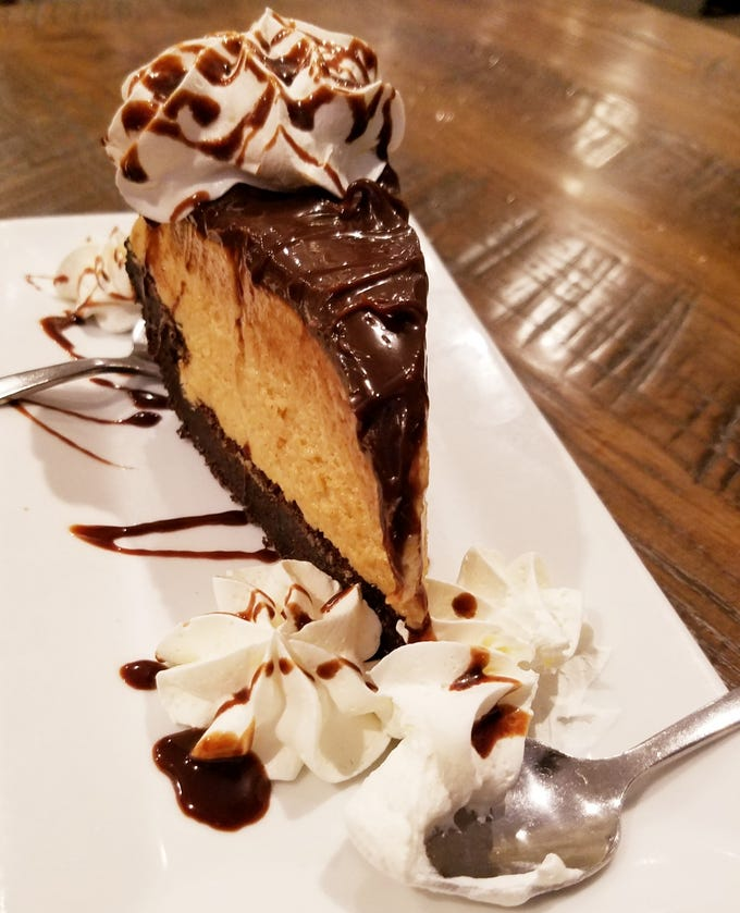 The chocolate peanut butter pie was so rich and delicious it had to be cut with a knife.