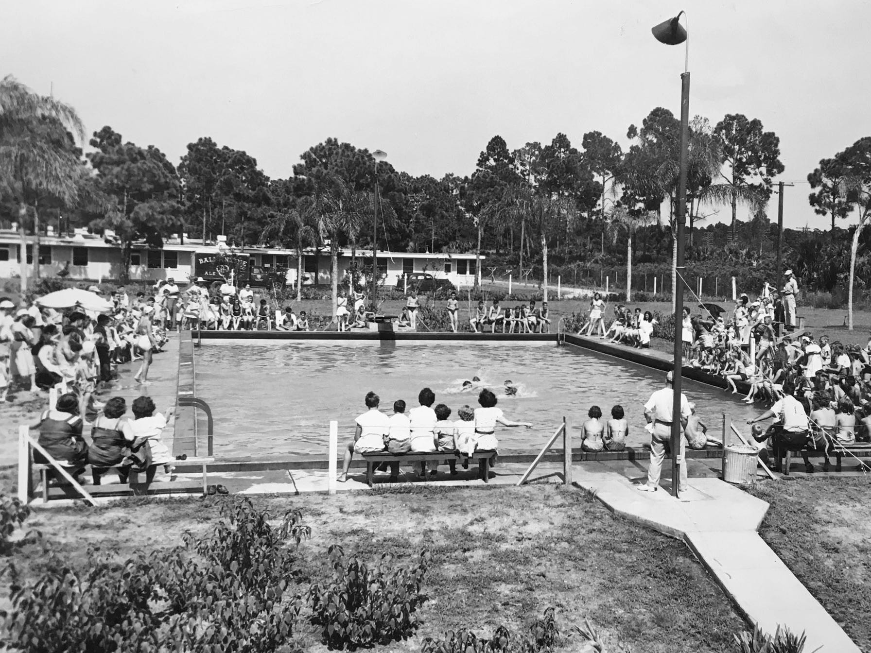 The Youth Center pool was a popular place to go in the summer in Vero Beach, unknown year.