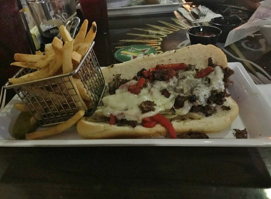 2nd Street Bistro's Steak Philly was smothered in gooey melted provolone cheese.