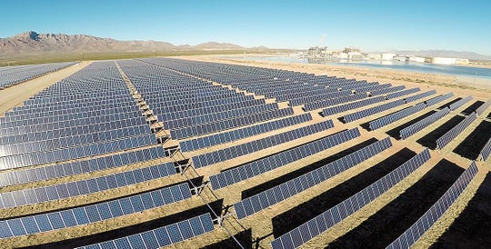 El Paso Electric plans to expand its solar power portfolio as part of a plan to add more power generation by 2023. This is the utility's 10-Megwatt solar plant next to its Newman Generating Station in Northeast El Paso.