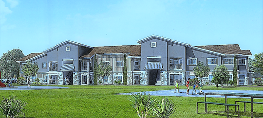 Rendering of the $34.02 million, 141-unit Medano Heights housing project in West El Paso.