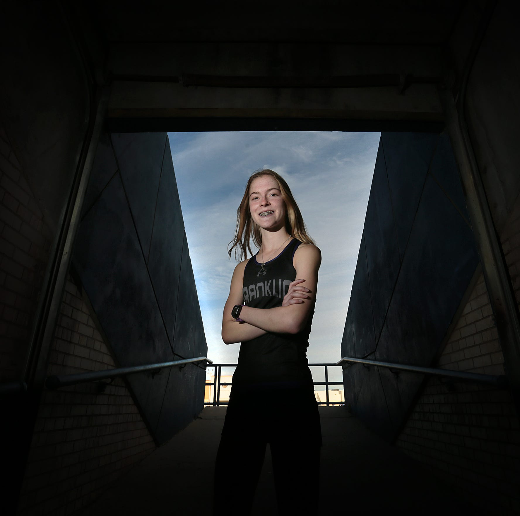 Franklin cross country runner Eva Jess is the El Paso Times' All City MVP in girl's cross country.