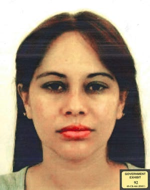 """This undated photo provided by the U.S. Attorney for the Eastern District of New York shows Lucero Guadalupe Sanchez Lopez. Sanchez, who says she had an affair with the notorious Mexican drug kingpin Joaquin """"El Chapo"""" Guzman, testified against him on Thursday, Jan. 17, 2019, at his U.S. trial in New York."""