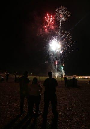 The 2014 Simi Valley Fourth of July fireworks show at Rancho Santa Susana Community Park.