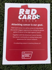 The Redwood High girls soccer program is selling a Red Card Cancer pin-up card for $1 to fund raise money for cancer research.