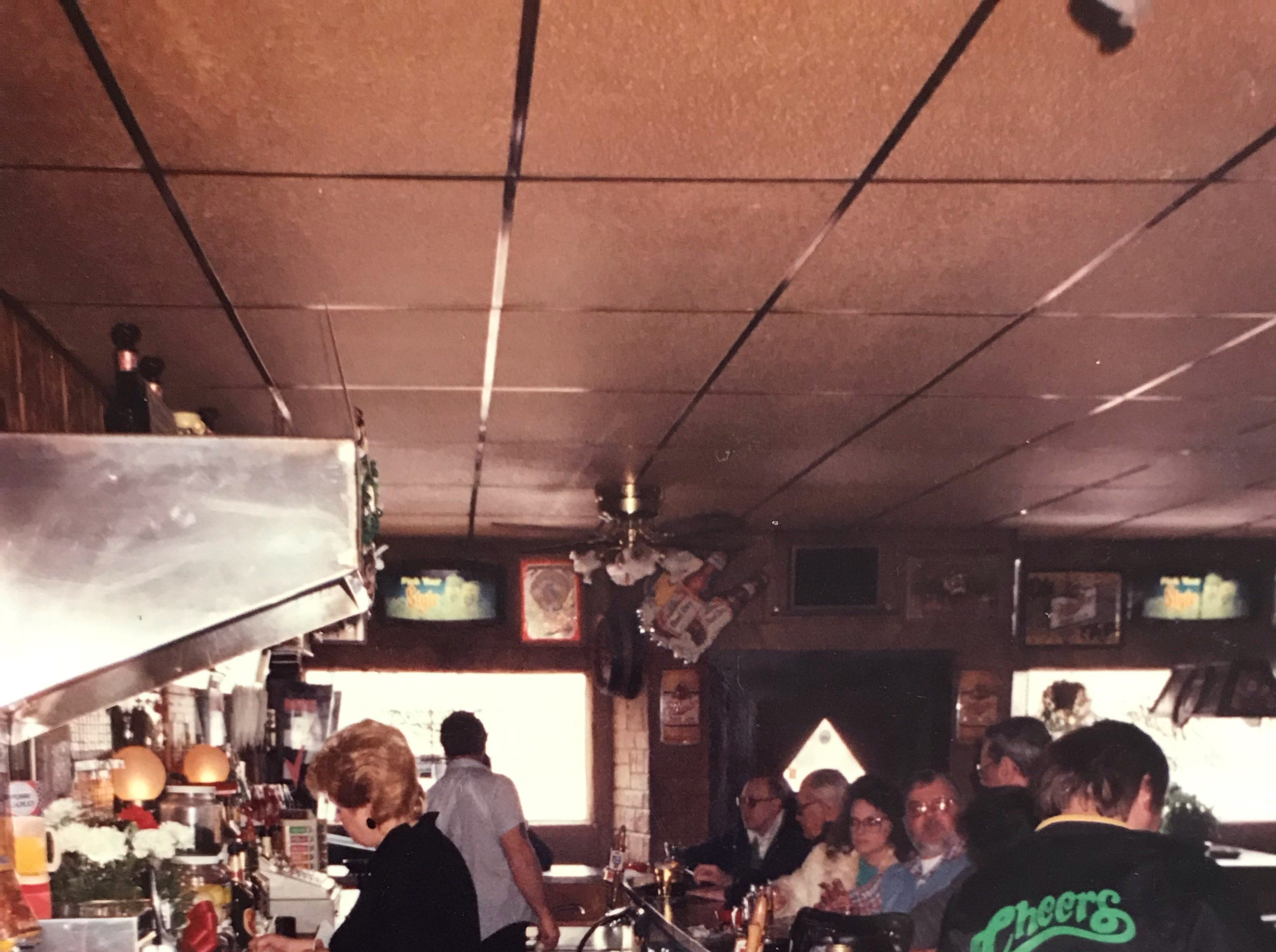 An old photo of Cheers Bar.