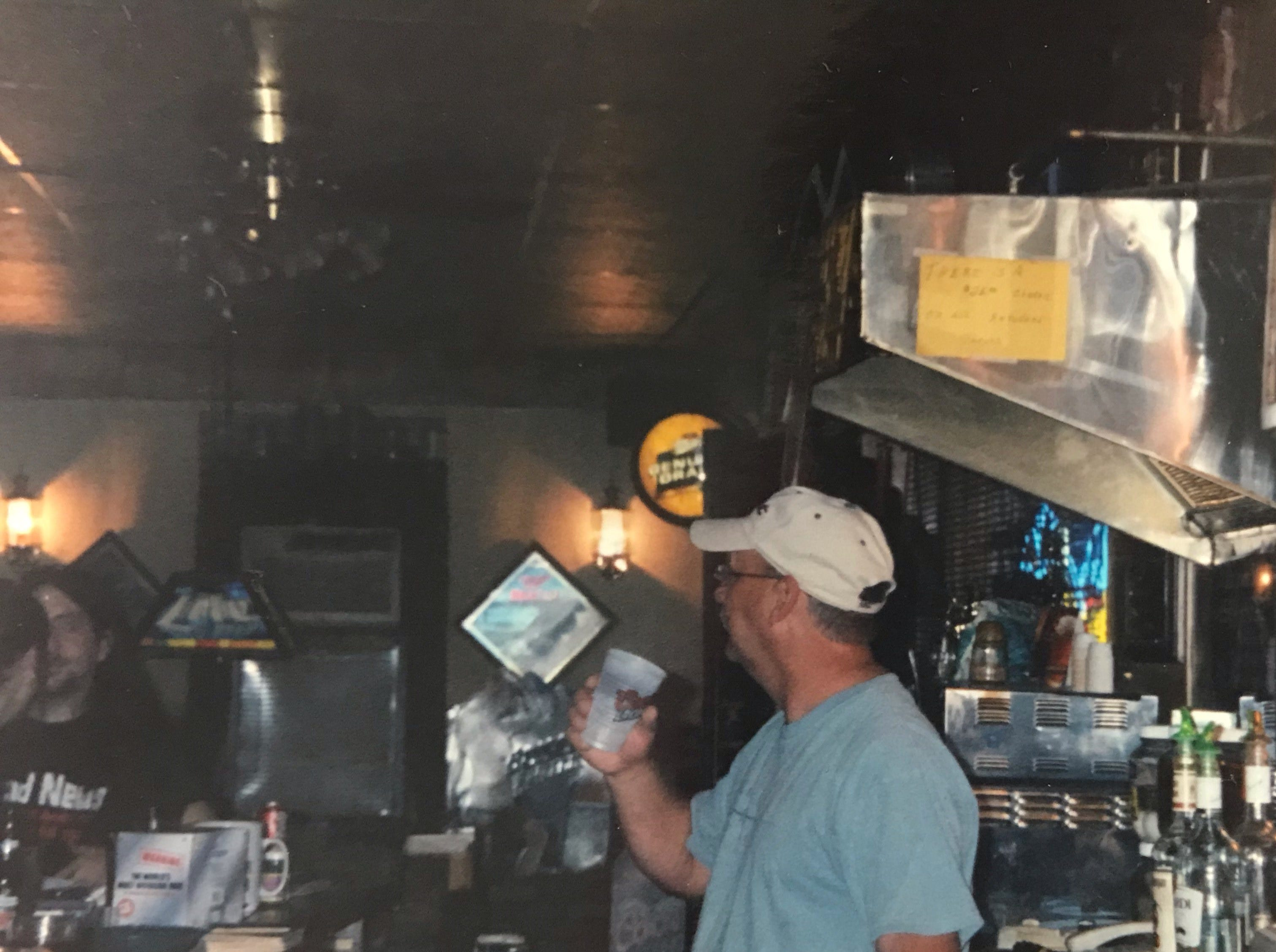 Bill Waraksa, long-time bartender, at Cheers Bar.