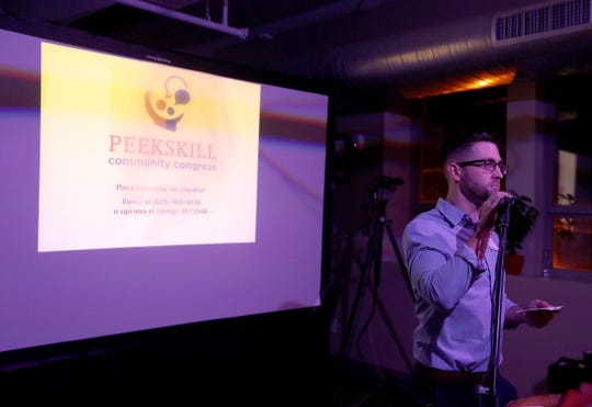 Peekskill resident Gregory Gutkes was one of the speakers at the Peekskill Community Congress Jan. 19, 2019. The gathering, which took place at the Peekskill Brewery, brought together Peekskill residents who were interested in helping to set priorities for the future of the city. At the gathering, eleven Peekskill residents were given three minutes each to explain what they thought the city should give priority to. Gutkes spoke about the need for safer intersections for pedestrians.