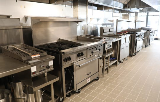 The teaching classroom kitchen at Rockland Community College's Hospitality and Culinary Arts Center in Nyack, photographed  January 17, 2019.