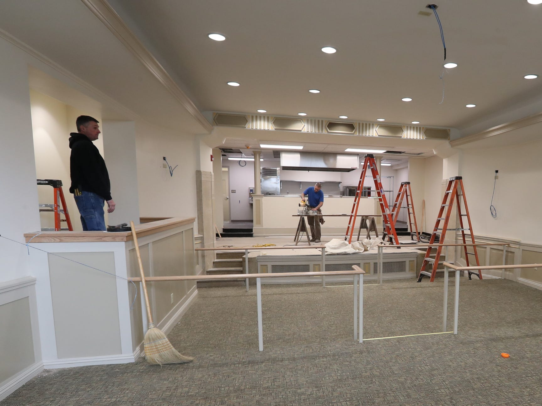 The mixed use theater at Rockland Community College's Hospitality and Culinary Arts Center in Nyack is in the final stages of preparation.  Thursday, January 17, 2019.
