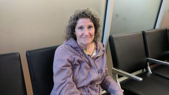 Sheryl Allen, of Hopewell Junction, waited for her flight at HPN.