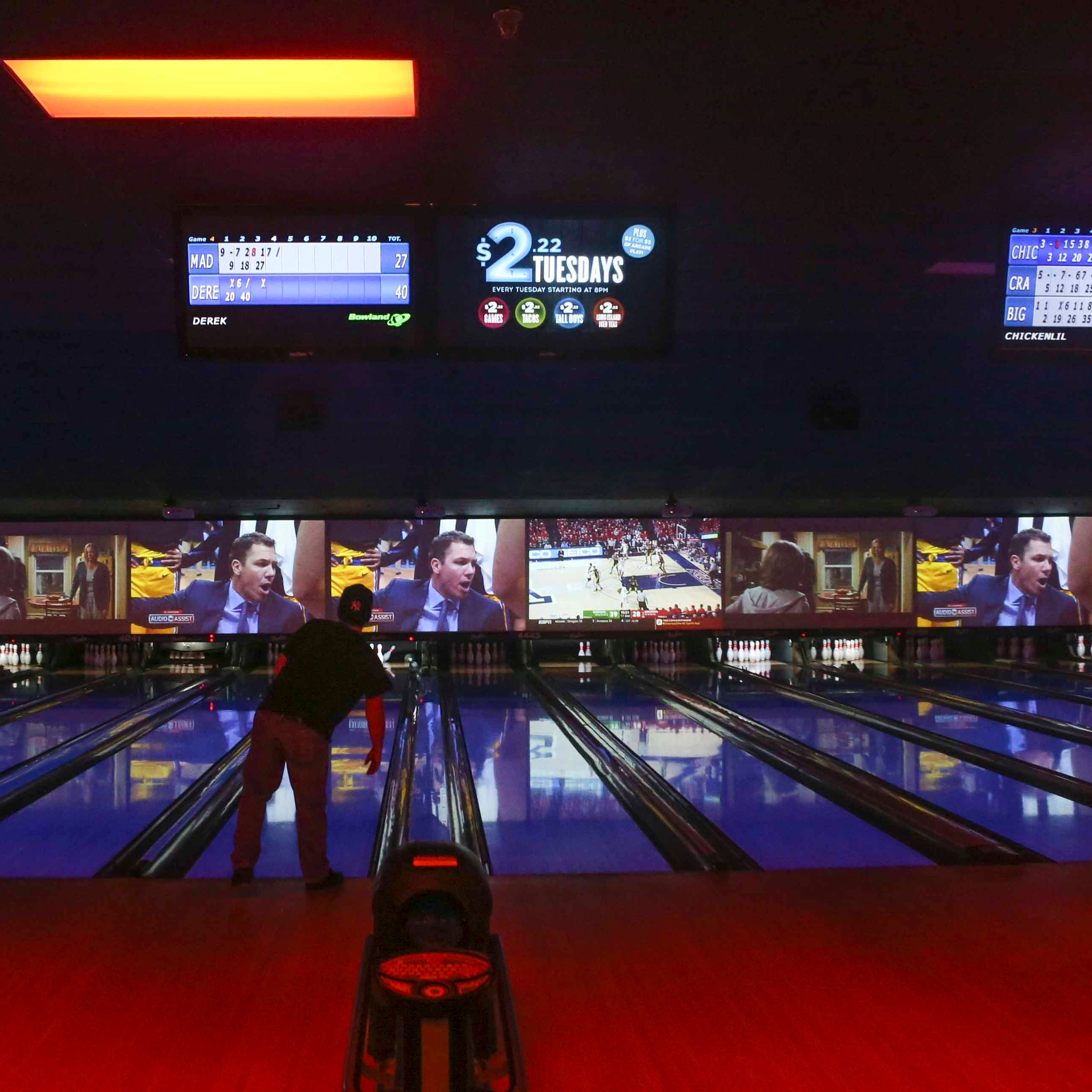Bowlero Wilmington debuts with 52 black light lanes, high definition video walls & free bowling