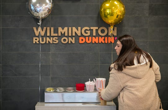 The Dunkin' chain, formerly known as Dunkin' Donuts, has opened one of its first new 'concept' stores today in north Wilmington. The 1,800-square-foot store at 3446 Naamans Road features a more modern atmosphere and innovative technologies.