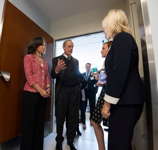 U.S. Rep. Lisa Blunt Rochester and U.S. Sen. Tom Carper tour the newly built Bayhealth Sussex Campus in Milford.