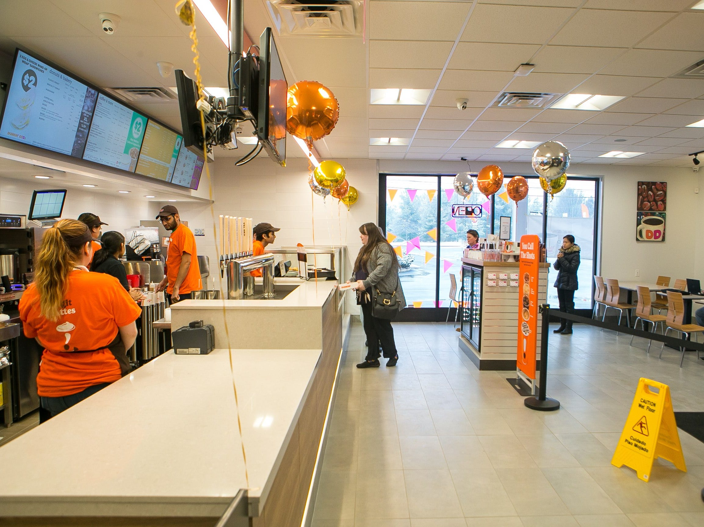 The Dunkin' chain, formerly known as Dunkin' Donuts, has opened one of its first new 'concept' stores today in north Wilmington.