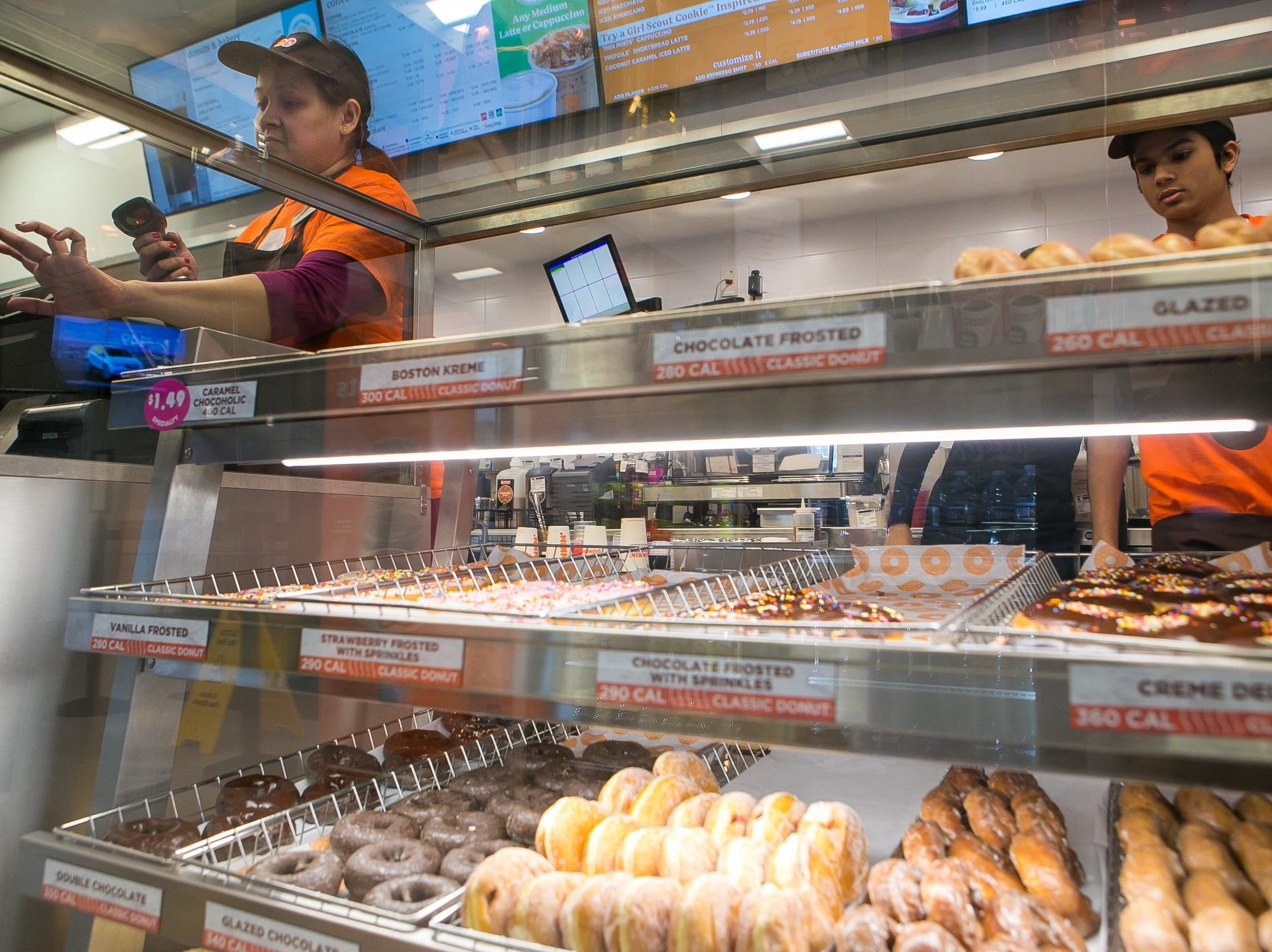The Dunkin' chain, formerly known as Dunkin' Donuts, has opened one of its first new 'concept' stores today in north Wilmington. The 1,800-square-foot store at 3446 Naamans Road features a more modern atmosphere and innovative technologies. The Delaware store is one of about 60 new and remodeled Dunkin' restaurants with new designs and the new Dunkin' brand name.