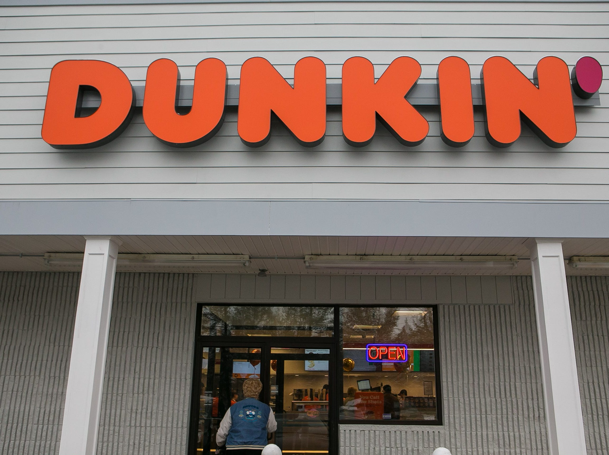 The Delaware store is one of about 60 new and remodeled Dunkin' restaurants with new designs and the new Dunkin' brand name.