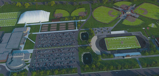 A rendering of possible sports upgrades at Lincoln High School.