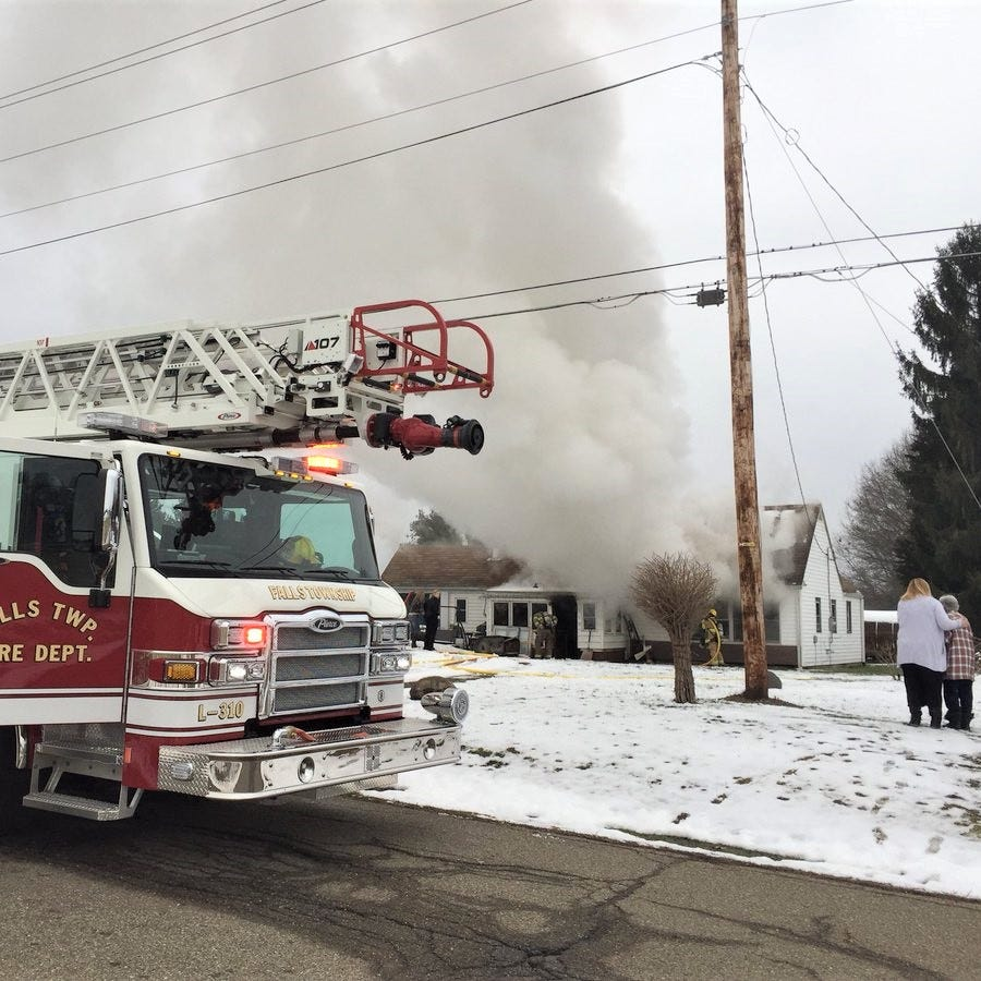House damaged by fire on Holbein Drive