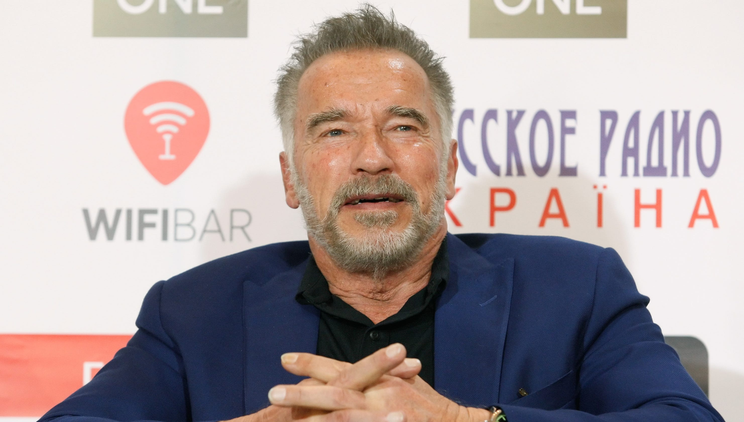 Arnold Schwarzenegger's son Joseph Baena re-creates his iconic pose